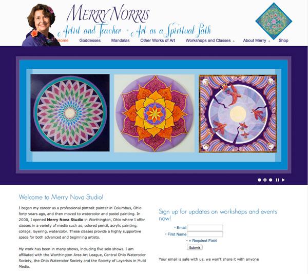MerryNovaStudio.com website and Facebook page