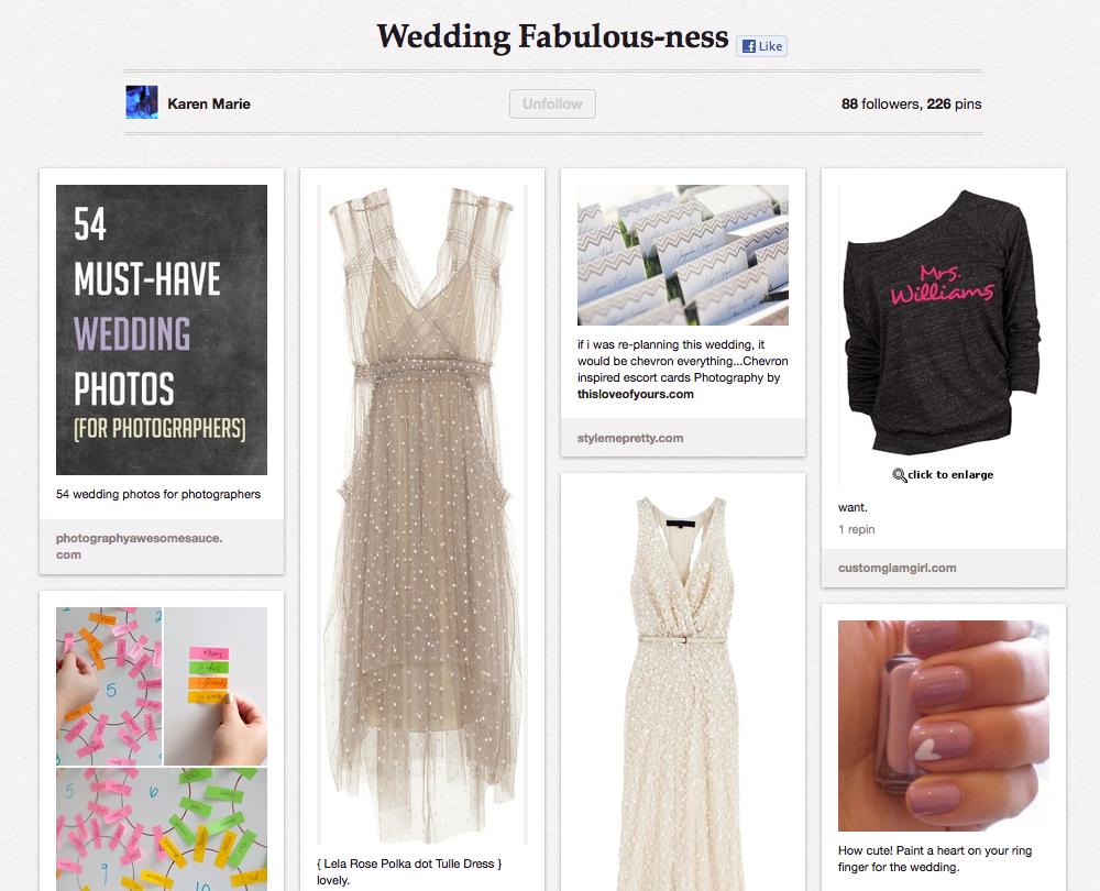 Pinterest 101 - Wedding Pinboard