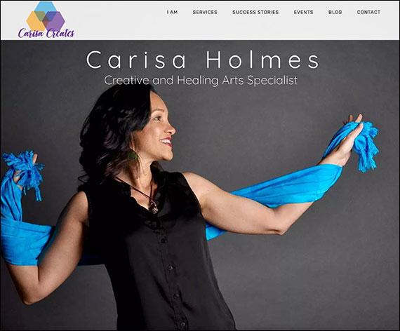 Carisa Holmes Website